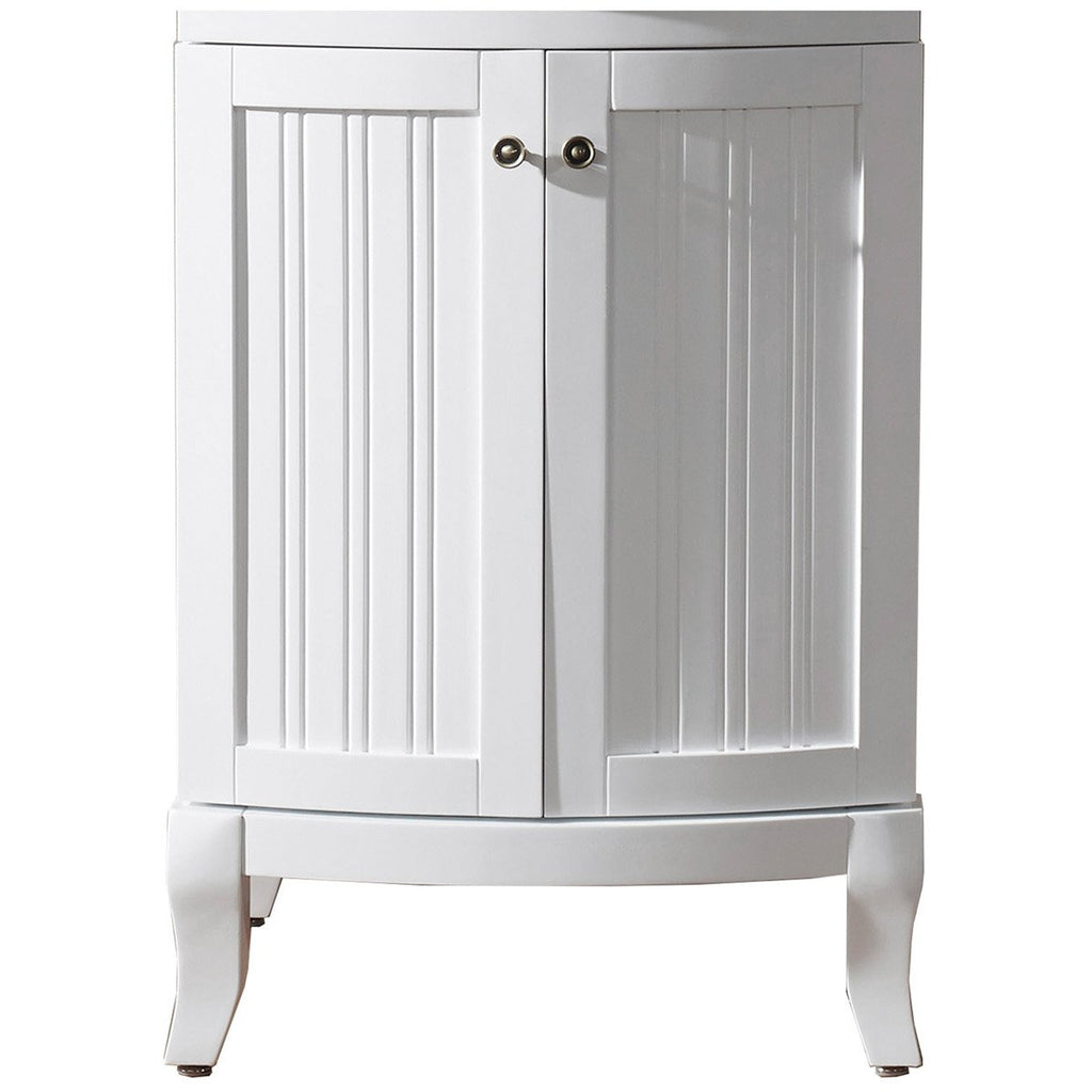 "Virtu USA Khaleesi 24"" Single Bathroom Vanity Cabinet Only in White ES-52024-CAB-WH"
