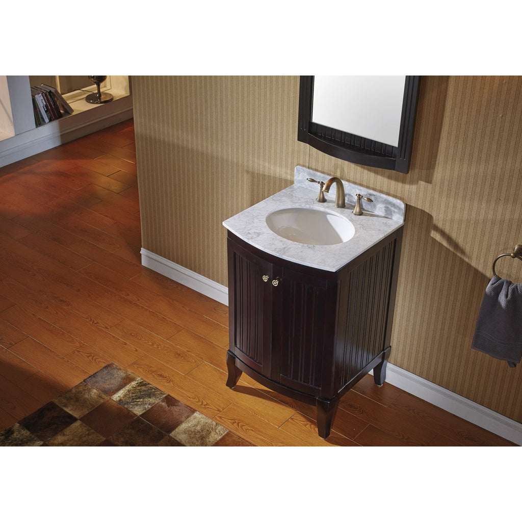 "Virtu USA Khaleesi 24"" Single Bathroom Vanity Set ES-52024-WMRO"