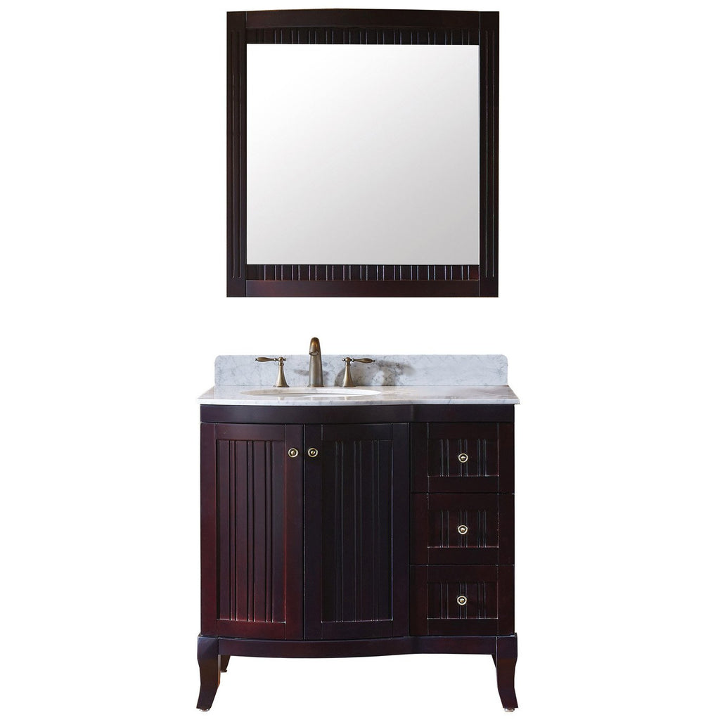 "Virtu USA Khaleesi 36"" Single Bathroom Vanity Set ES-52036-WMRO"