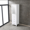 "Image of Eviva Aberdeen 18"" White Freestanding Modern Linen Side Cabinet EVCB412-18WH"