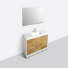 "Image of Eviva Grace 48"" Natural Oak/White Bathroom Vanity w/ White Integrated Top EVVN765-48NOK-WH"