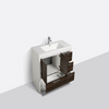 "Image of Eviva Grace 42"" Gray Oak/White Bathroom Vanity w/ White Integrated Top EVVN765-42GOK-WH"
