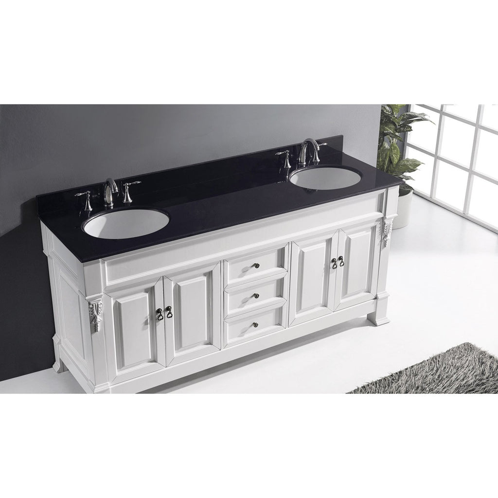 "Virtu USA Huntshire 72"" Double Bathroom Vanity Set GD-4072-BGRO"