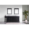 "Image of Virtu USA Huntshire 72"" Double Bathroom Vanity Set GD-4072-WMRO"