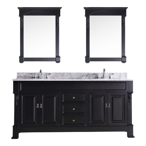 "Virtu USA Huntshire 72"" Double Bathroom Vanity Set GD-4072-WMRO"