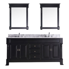 "Virtu USA Huntshire 72"" Double Bathroom Vanity Set GD-4072-WMSQ"