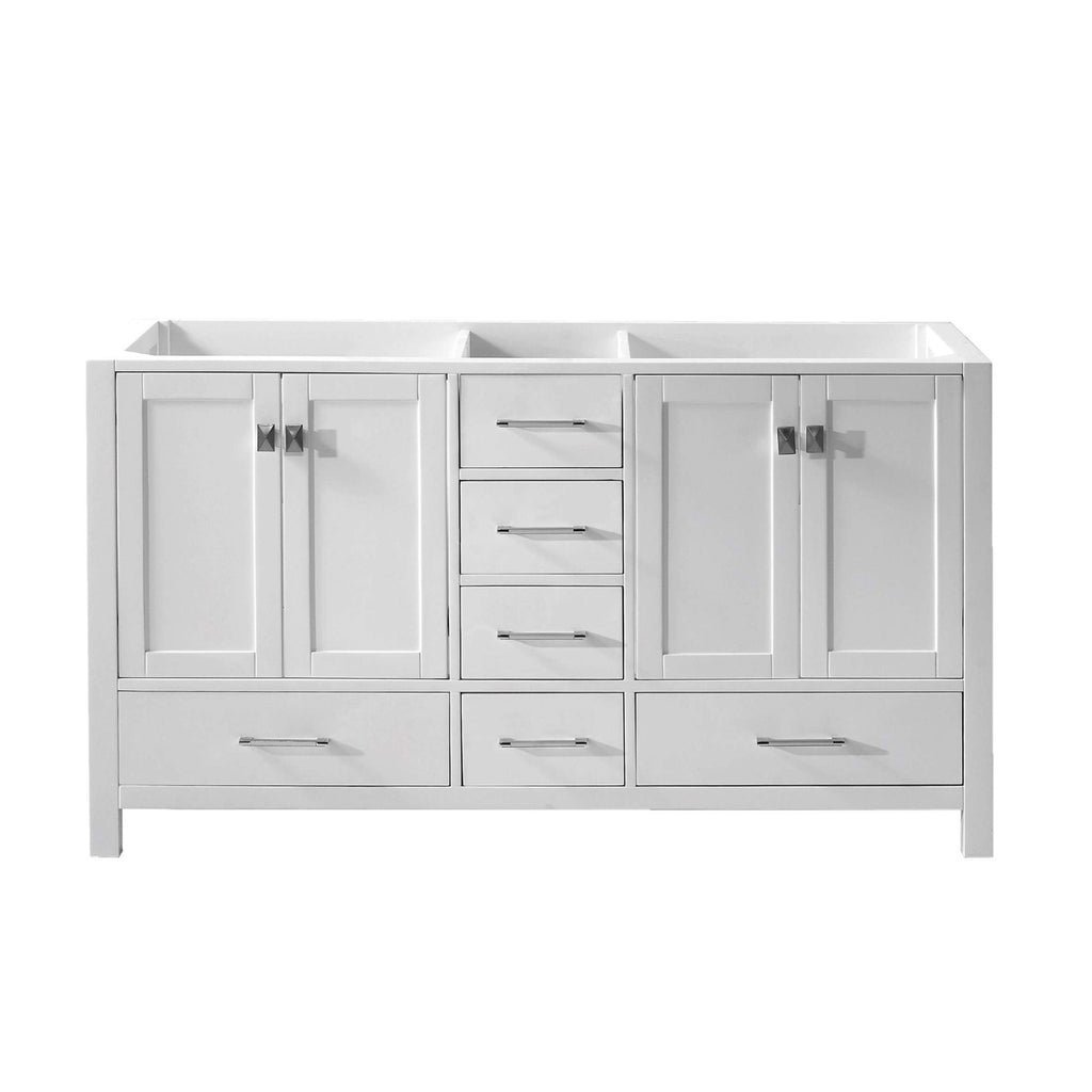 "Virtu USA Caroline Avenue 60"" Double Bathroom Vanity Cabinet GD-50060-CAB"