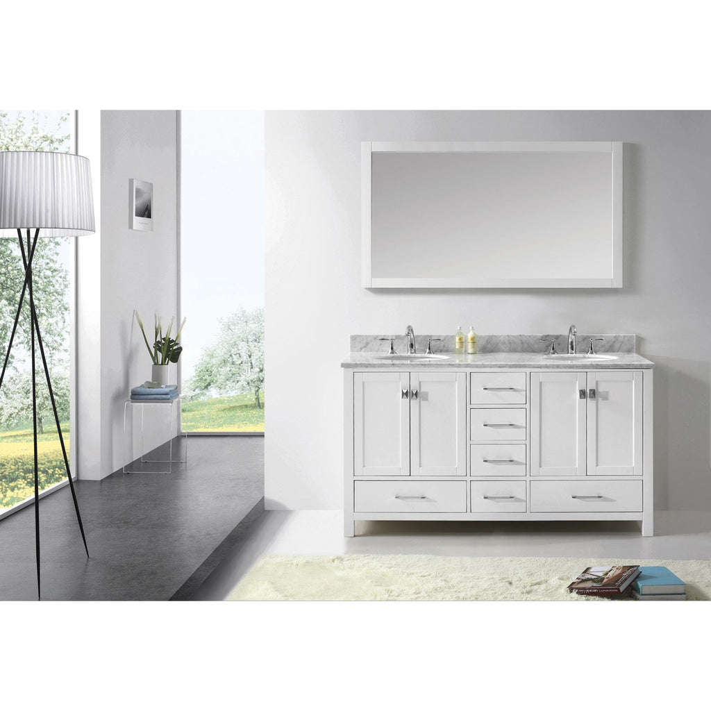"Virtu USA Caroline Avenue 60"" Double Bathroom Vanity Set GD-50060-WMRO"