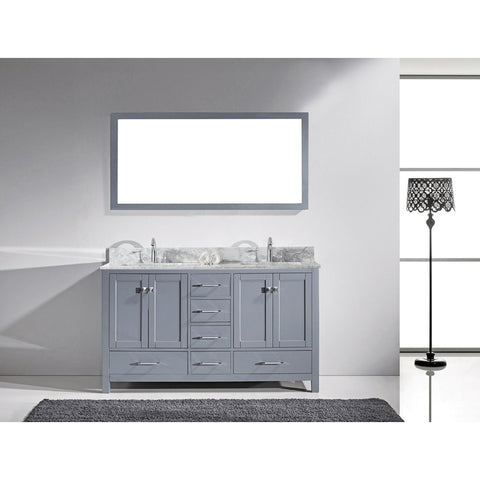 "Virtu USA Caroline Avenue 72"" Double Bathroom Vanity Set GD-50072-BGRO"