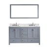 "Image of Virtu USA Caroline Avenue 72"" Double Bathroom Vanity Set GD-50072-BGRO"