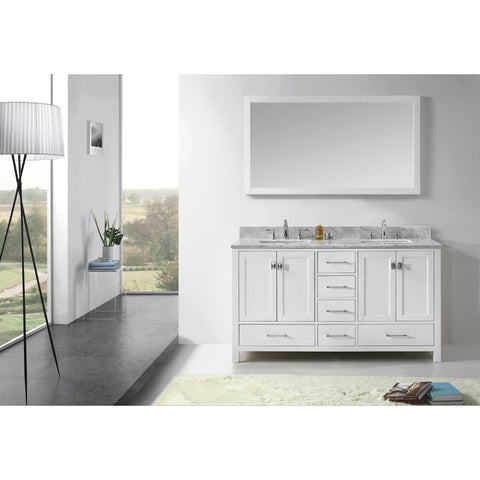 "Virtu USA Caroline Avenue 60"" Double Bathroom Vanity Set GD-50060-WMSQ"
