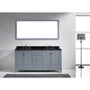 "Image of Virtu USA Caroline Avenue 72"" Double Bathroom Vanity Set GD-50072-BGSQ"