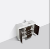 "Image of Eviva Grace 60"" Gray Oak/White Single Sink Bathroom Vanity w/ White Integrated Top EVVN765-60GOK-WH-SS"