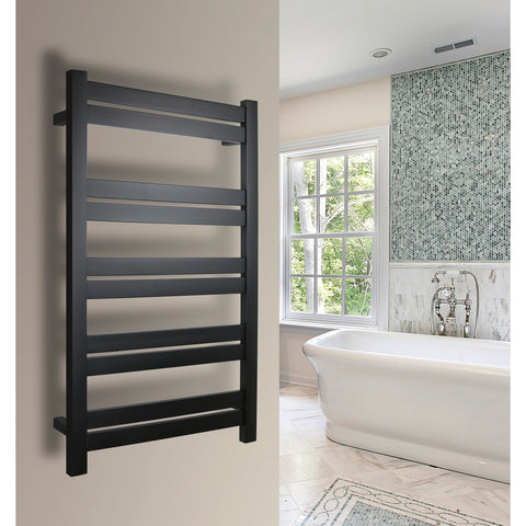 WarmlyYours Grande 10 Bars  Black Hardwired Towel Warmer TWS6-GRD10KH