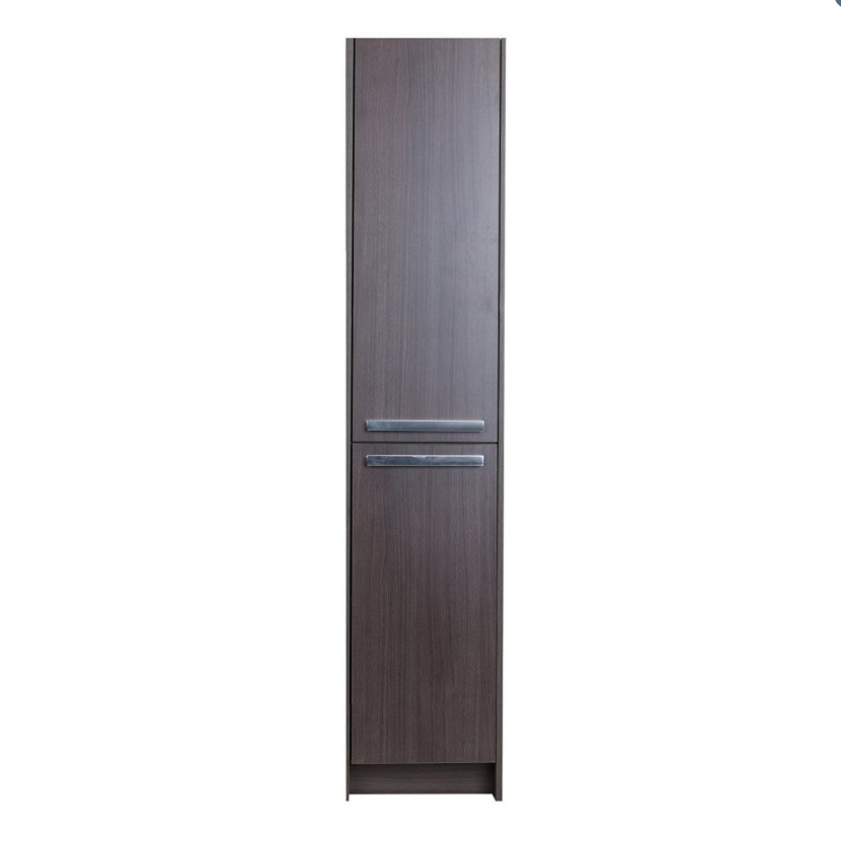 "Eviva Lugano 16"" Rosewood Freestanding Modern Bathroom Linen Side Cabinet EVCB1600-16RSWD"