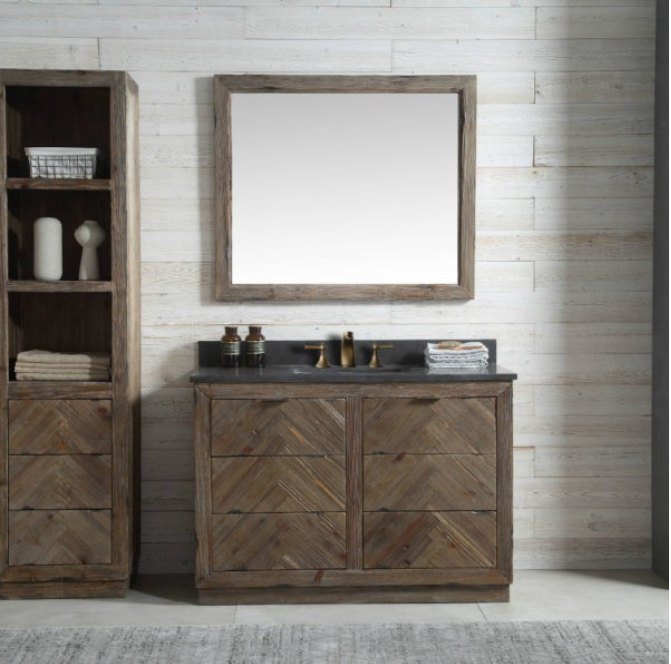 "Legion Furniture 48"" Wood Vanity in Brown w/Marble WH5148 Top, No Faucet WH8548"
