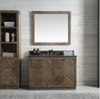 "Image of Legion Furniture 48"" Wood Vanity in Brown w/Marble WH5148 Top, No Faucet WH8548"