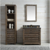 "Image of Legion Furniture 36"" Wood Vanity in Brown w/Marble WH5136 Top, No Faucet WH8436"