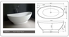 "Image of Legion Furniture 70.7"" White Matt Solid Surface Tub, No Faucet WJ8620-W"
