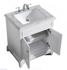 "Image of Eviva Elite Princeton 30"" Gray Bathroom Vanity w/ Double Ogee Edge White Carrara Top EVVN707-30GR"