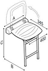 PonteGiulio Choice Folding Shower Seat With Legs 4FAUHS02W1