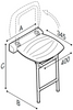 Image of PonteGiulio Choice Folding Shower Seat With Legs 4FAUHS02W1