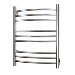 WarmlyYours Riviera Polished Stainless Hardwired Towel Warmer TW-R09PS-HW