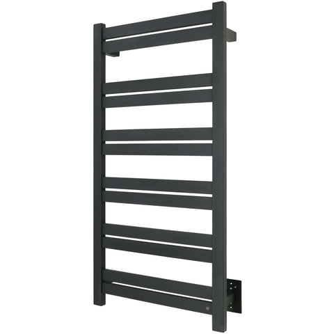 WarmlyYours Grande 12 Bars Black Hardwired Towel Warmer TWS6-GRD12KH