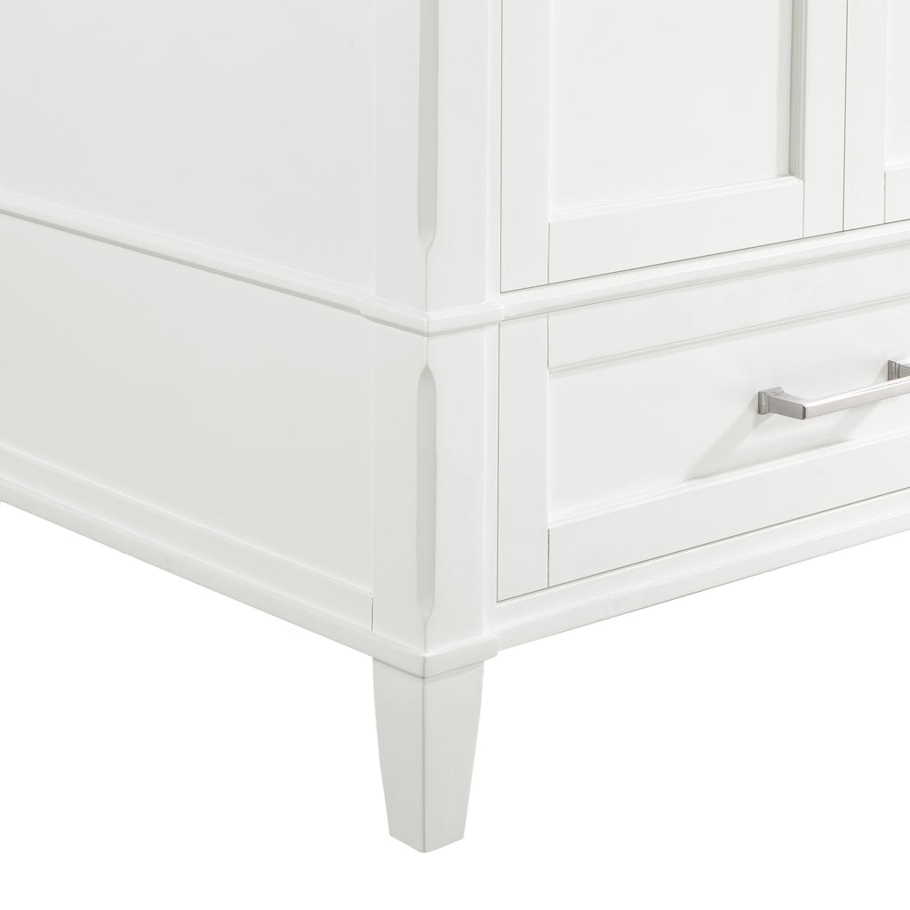 "BemmaDesign Montauk 48"" Bathroom Vanity, Light Oak with Carrara Marble top V-MT48SFM-06-M03O-3"
