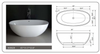 "Image of Legion Furniture 65"" White Matt Solid Surface Tub, No Faucet WJ8628-W"