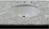 "Image of Legion Furniture 48"" ANTIQUE COFFEE SINK VANITY WITH CARRARA WHITE TOP AND MATCHING BACKSPLASH WITHOUT FAUCET WLF6036-48"""