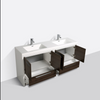 "Image of Eviva Grace 72"" Gray Oak/White Double Sink Bathroom Vanity w/ White Integrated Top EVVN765-72GOK-WH"