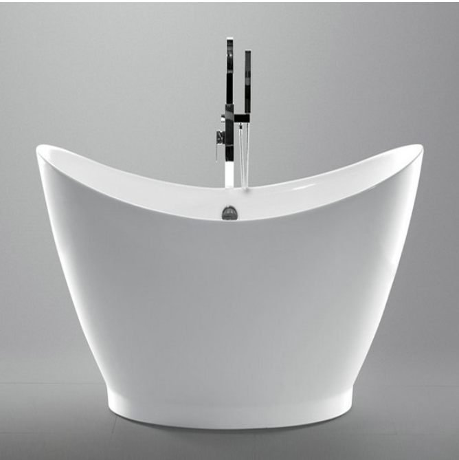 "Legion Furniture 67.3"" White Acrylic Tub, No Faucet  WE6513"