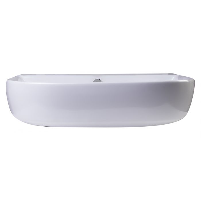 "ALFI Brand 24"" White D-Bowl Porcelain Wall Mounted Bath Sink AB111"