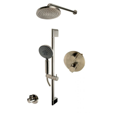 ALFI Brand Round Style 2 Way Thermostatic Shower Set AB2545