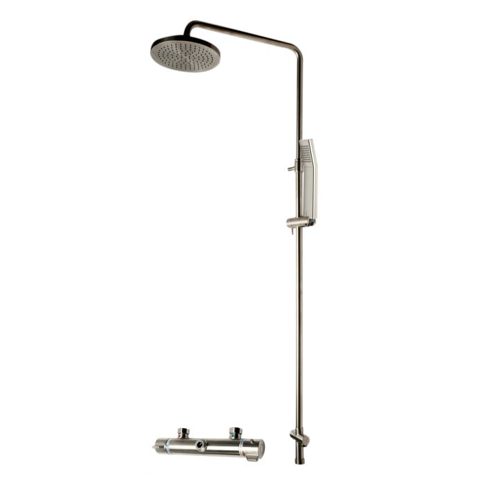 ALFI Brand Round Style Thermostatic Exposed Shower Set AB2867