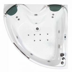 EAGO 5 ft for Two with Fixtures Corner Acrylic Whirlpool Bathtub AM125ETL