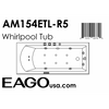 Image of EAGO with Fixtures Acrylic White Rectangular Whirlpool Bathtub AM154ETL