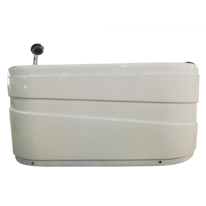 EAGO 57'' with Fixtures Acrylic Corner Jetted Whirlpool Bathtub AM175