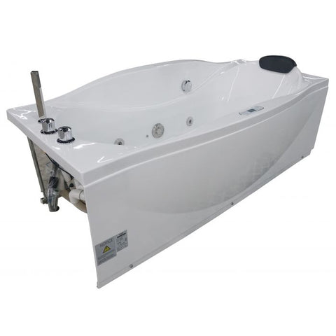 EAGO 6 ft with Fixtures Acrylic White Whirlpool Bathtub AM189ETL