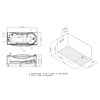 Image of EAGO 6 ft with Fixtures Acrylic White Whirlpool Bathtub AM189ETL