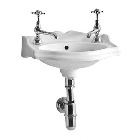 Whitehaus White Porcelain Rectangular Wall Mount Bathroom Sink AR035-C
