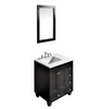 Image of Eviva Acclaim 28″ Espresso Transitional Bathroom Vanity w/ White Carrara Top  EVVN69-28ES