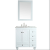 Image of Eviva Acclaim 28″ White Transitional Bathroom Vanity w/ White Carrara Top EVVN69-28WH