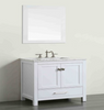 "Image of Eviva Aberdeen 30"" White Transitional Bathroom Vanity w/ White Carrara Top EVVN412-30WH"