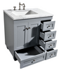 Image of Eviva Acclaim 30″ Gray Transitional Bathroom Vanity w/ White Carrara Top EVVN69-30GR