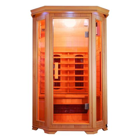 Sunray Heathrow 2 Person Hemlock Infrared Sauna w/Ceramic Heaters HL200W