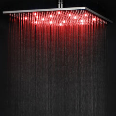 ALFI Brand 16 Inch Square Multi Color LED Rain Shower Head LED16S