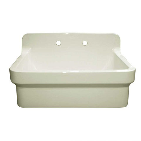 Whitehaus OFCH2230 Fireclay Utility with High Backsplash Kitchen Sink OFCH2230-WHITE