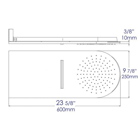 "ALFI Brand 10"" Wall-Mounted Waterfall Rain Shower Head RAIN10"